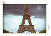 Illustration Of Eiffel Tower Carry-all Pouch