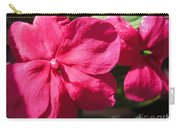 Impatiens Named Dazzler Burgundy Carry-all Pouch