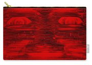 In Your Face In Negative Red Carry-all Pouch