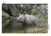 Indian Rhinoceros Rhinoceros Unicornis Carry-all Pouch by Konrad Wothe