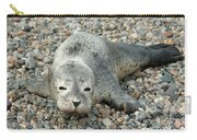 Injured Harbor Seal Carry-all Pouch by Ted Kinsman