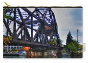 Jack-knife Bridge At Erie Canal Harbor Carry-all Pouch