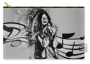 Janis In Black And White Carry-all Pouch