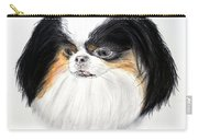 Japanese Chin Dog Portrait Carry-all Pouch