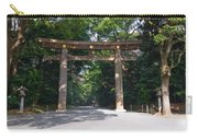 Japanese Entrance Gate On A Sunny Day Carry-all Pouch