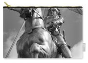 Joan Of Arc Statue French Quarter New Orleans Black And White Carry-all Pouch