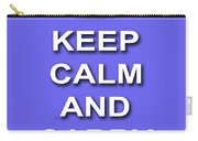 Keep Calm And Carry On Poster Print Blue Background Carry-all Pouch
