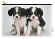 King Charles Spaniel Puppies Carry-all Pouch by Jane Burton