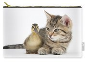 Kitten And Duckling Carry-all Pouch