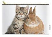 Kitten And Netherland Dwarf-cross Rabbit Carry-all Pouch