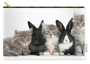 Kittens And Rabbits Carry-all Pouch