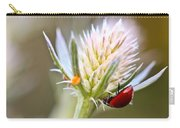 Ladybug On Thistle Carry-all Pouch