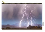 Lightning Striking Longs Peak Foothills 6 Carry-all Pouch by James BO  Insogna