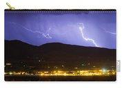 Lightning Striking Over Ibm Boulder Co 2 Carry-all Pouch
