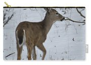 Little White Tail On The Move Carry-all Pouch