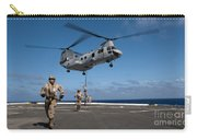 Marines Fast Rope On To The Flight Deck Carry-all Pouch