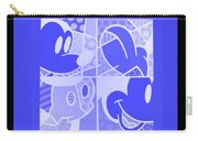 Mickey In Negative Light Blue Carry-all Pouch
