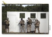 Military Reserve Members Prepare Carry-all Pouch by Michael Wood