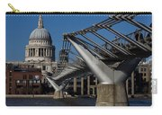 Millenium Bridge And St Pauls Cathedral Carry-all Pouch