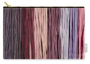 Multi-colored Striped Fabrics Carry-all Pouch