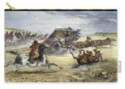 Native American Attack On Coach Carry-all Pouch