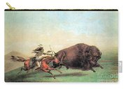 Native American Indian Buffalo Hunting Carry-all Pouch