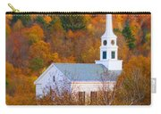 New England Church In Autumn Carry-all Pouch