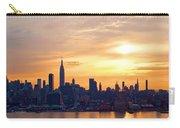 Ny Skyline Sunrise Gold Carry-all Pouch
