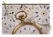 Old Pocket Watch On Dail Faces Carry-all Pouch