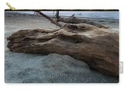 Old Tree Trunk On A Beach  Carry-all Pouch