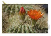 Orange Cactus Flower Carry-all Pouch