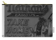 Original Nathan's In Black And White Carry-all Pouch