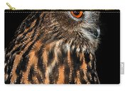 Side Portrait Of An Eagle Owl Carry-all Pouch