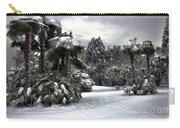 Palm Trees With Snow Carry-all Pouch