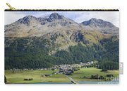 Panoramic View Over Mountain Carry-all Pouch