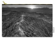 Path To The Sun   Black And White Carry-all Pouch