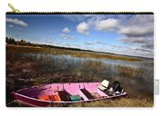 Pink Boat In Scenic Saskatchewan Carry-all Pouch