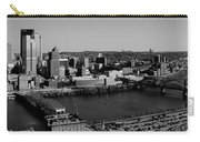 Pittsburgh In Black And White Carry-all Pouch