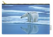 Polar Bear Ursus Maritimus Pair On Ice Carry-all Pouch
