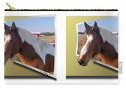 Pony Pose - Gently Cross Your Eyes And Focus On The Middle Image Carry-all Pouch
