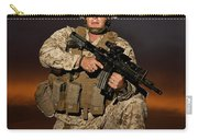 Portrait Of A U.s. Marine In Uniform Carry-all Pouch