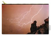 Praying Monk Camelback Mountain Lightning Monsoon Storm Image Tx Carry-all Pouch
