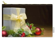 Present Decorated With Christmas Decoration Carry-all Pouch