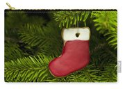 Present Sock Shape Short Bread Cookie In Christmas Tree Carry-all Pouch