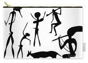 Primitive Art - Various Figures Carry-all Pouch