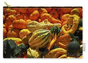 Pumpkins And Gourds Carry-all Pouch by Elena Elisseeva