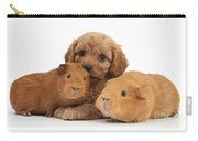 Puppy And Guinea Pigs Carry-all Pouch