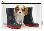 Puppy With Rain Boots Carry-all Pouch by Jane Burton