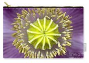Purple Poppy Blossom Into A Star Carry-all Pouch