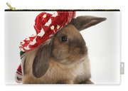 Rabbit Wearing A Hat Carry-all Pouch